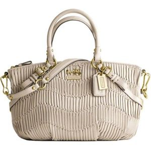 Coach Madison Gathered Sophia Satchel Bone Ivory